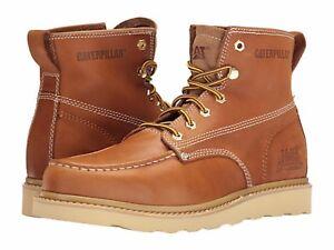 b4a24c762b6b Caterpillar - Glenrock Mid (Golden Coast) Men s Moc Toe Work Boots ...