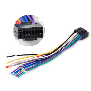 car radio stereo wire harness cd plug cable 16 pin. Black Bedroom Furniture Sets. Home Design Ideas