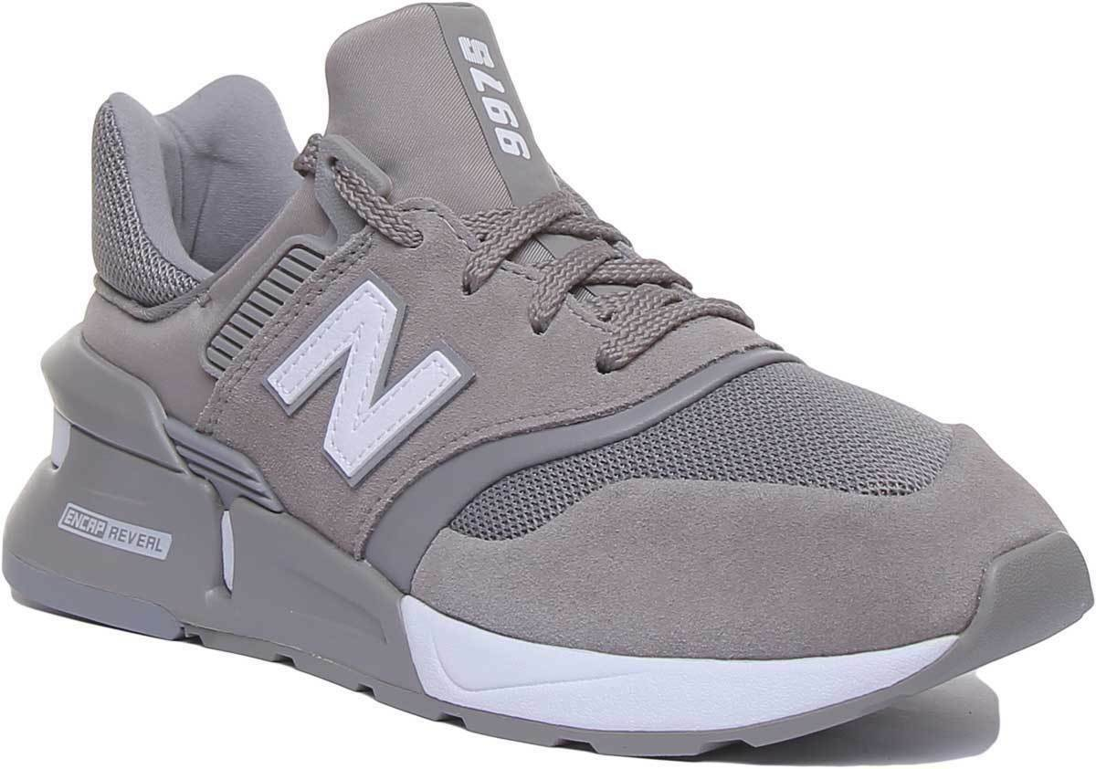 New Balance 997 Mens Lace Up Suede Mesh Running Trainers In grau UK Größes 6 - 12