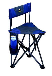 Outdoor Quik E  Seat Camping Picnic Fishing Events Portable Collapsible Midnight  free shipping!