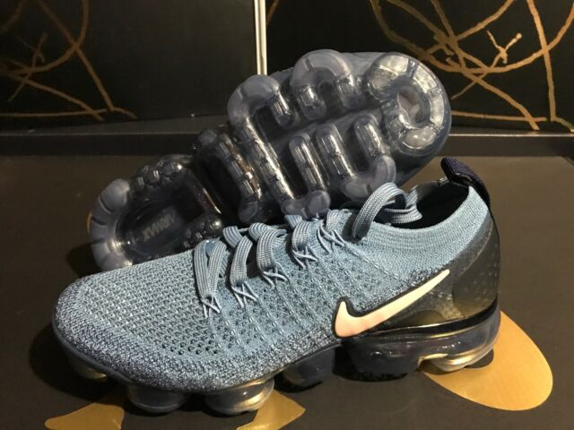 0bcd0349bc7b7 Nike Air Vapormax Flyknit 2 Work Blue  Crimson 942843-401 Woman Size .