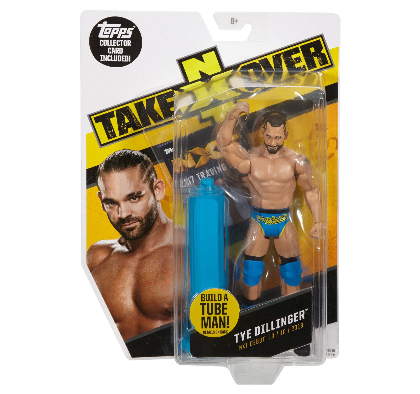 WWE NXT TAKEOVER TYE DILLINGER FIGURE BUILD A TUBE MAN TOPPS CARD PERFECT 10