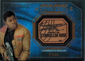 STAR-WARS-Masterwork-2016-Medallion-Card-of-Finn-Assault-on-Starkiller-Base