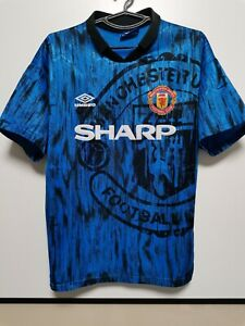 SIZE M MANCHESTER UNITED 1992-1993 AWAY FOOTBALL SHIRT JERSEY UMBRO