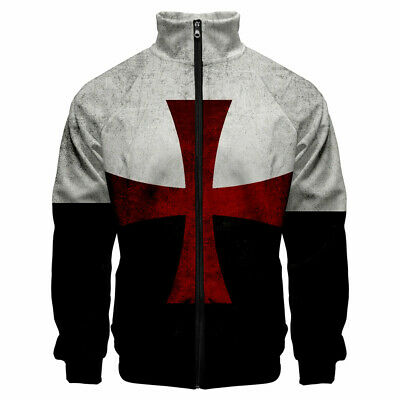 Knights Templar Crusader Creed George Gift Premium Quality DTG SWEAT SHIRT S-5XL