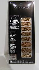 Maybelline Color Show #30 on the Prowl Nail Stickers Mirror Effect NEW