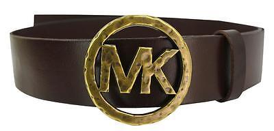 f57bb6b2c50ab New Michael Kors MK Women s Premium Leather Belt Brown 551527 size S
