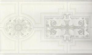 Wallpaper-Border-Eggshell-White-and-Pearlized-White-Faux-Wood-Molding