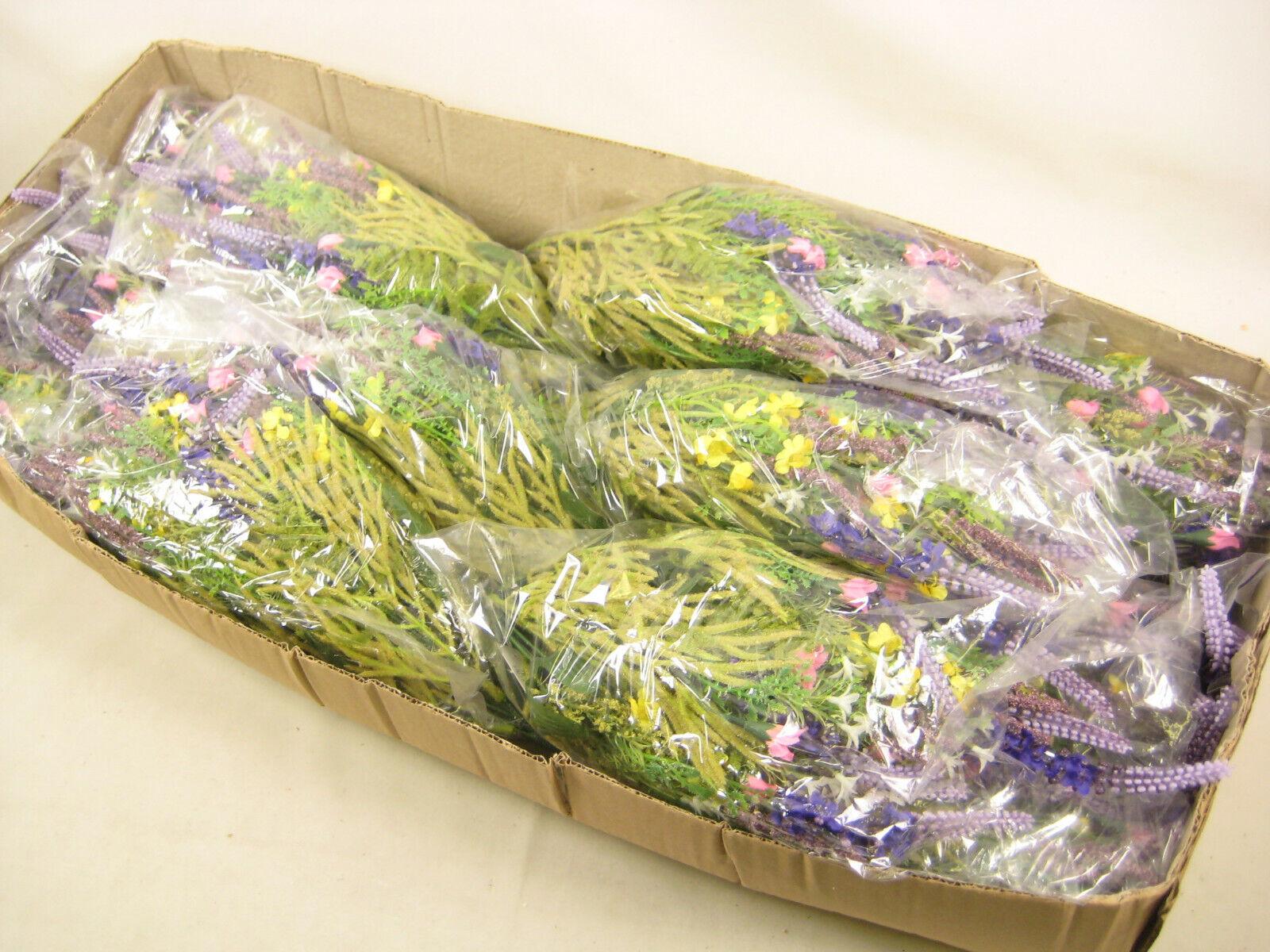 12x Wholesale Job Lot Artificial Flowers Lavender Rosa Rosa Rosa Buds Daisies Arrangement 7f9828
