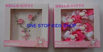 HELLO KITTY Toddler Girls NECKLACE or BARETTES Hair Accessory EASTER Bunny