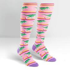 Sock It To Me Women's Funky Knee High Socks - Rawr-ler Rink