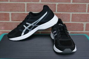 Asics-Gel-Contend-4-T715N-Mens-Running-Shoes-12-Black-Silver-Carbon
