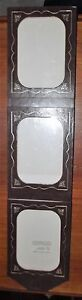Retro-Vintage-Faux-Leather-Aztec-Vinyl-Photo-Frame-Wall-Hanging-like-New