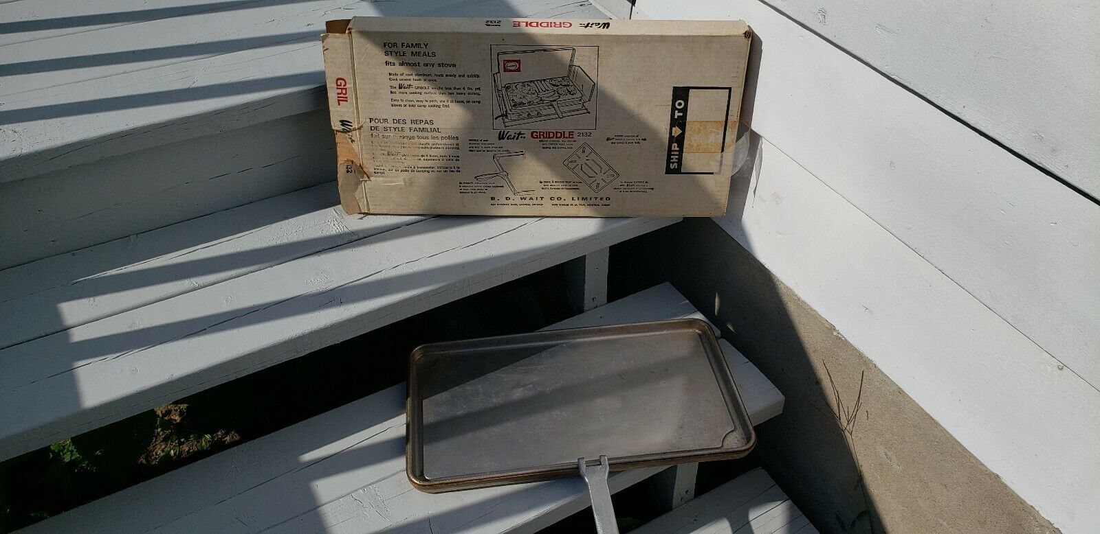 VTG b.d wait cast aluminium primus griddle grill stovetop