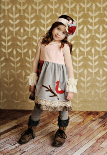 NWT Persnickety Boutique Nellie Bird Dress Special Occasion Holiday Girls sz 3