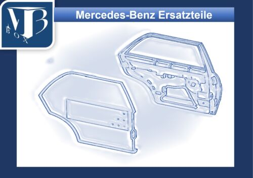 Mercedes-benz w126 sel bloquearân densamente marco trasera izquierda lado del conductor