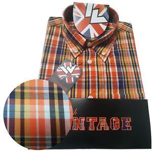 Warrior-UK-England-Button-Down-Shirt-REED-Slim-Fit-Skinhead-Mod-Retro