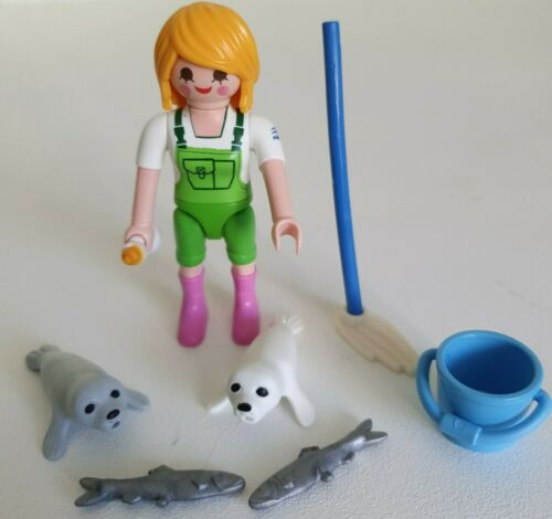 Zoo//Farm //Horse//House//City Life// Victorian Playmobil Lady /& 2 Seal Pups
