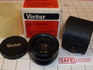 Vivitar 2X-1 Automatic Tele Converter Lens Universal Mount Pentax Camera MM-172