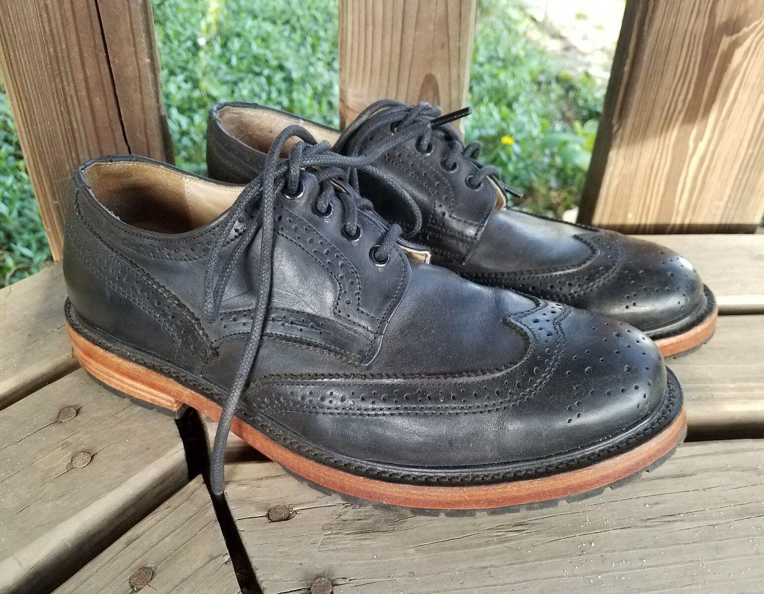 9 Mens Walk Over Over Over Wingtip Brogue Derby Oxford braun schuhe Leather USA Made 69081e