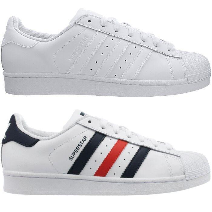 Adidas Superstar Foundation Herren Sneakers weiß oder weiß/rot/blau Freizeit NEU