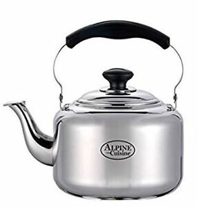3 liter alpine cuisine polished finish stainless steel for Alpine cuisine tea kettle