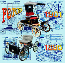 Build 1:16 Scale Two MODEL 1896 & 1901 Ford Car  Full size Printed Plans & notes
