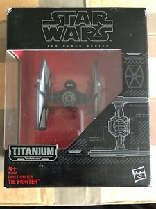 100% De Qualité Star Wars The Black Series Titanium Series First Order Tie Fighter New In Box Top PastèQues