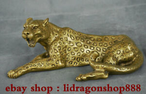 8-8-034-Rare-cuivre-chinois-Feng-Shui-Panthera-Pardus-leopard-Panther-Sculpture