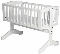 Baby Swing Crib Nursery Room Bed Toddler Modern Wooden Cot From Birth Swinging