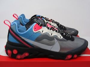 50045ba97f6f Nike React Element 87 Black Solar Red Blue Chill UK 5 6 7 8 9 10 11 ...