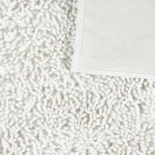 Dip /& Drip Velvet Bath Mat Silver Magnesium Natural White