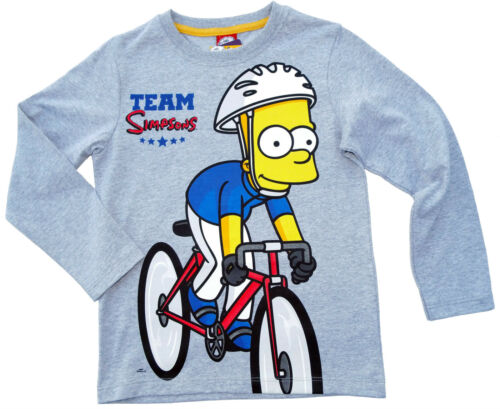 NEU!Bart Simpsons T-Shirt Langarm Shirt Baumwolle Rundhals Motiv 128 140 152 164