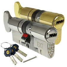 Yale uPVC Door Lock Thumbturn Platinum Euro Cylinder TS007 3 * Star Anti Snap