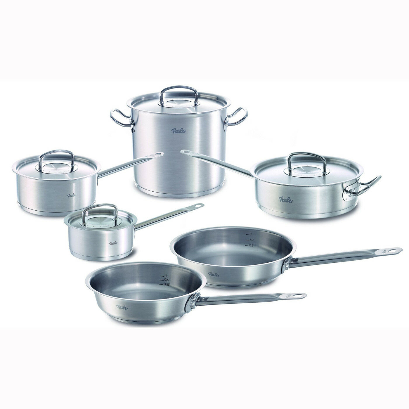 Fissler 10 pc Original Profi Stainless Steel Cookware Set