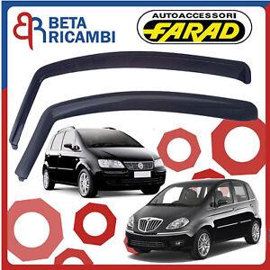 5 p dal 2003 Kit 4 Deflettori Aria Antivento Farad Anteriori//Posteriori Fiat Idea
