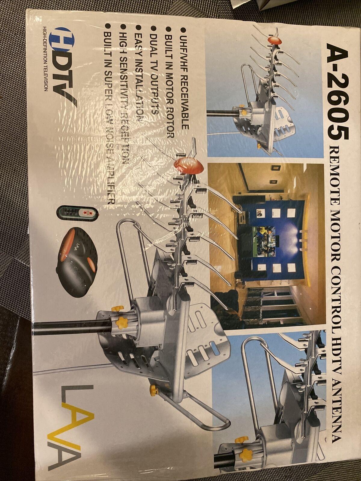 HD-2605 ghettogandhi1 LAVA HD2605 HDTV DIGITAL ROTOR AMPLIFIED OUTDOOR TV ANTENNA HD UHF VHF FM CABLE