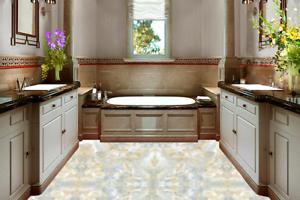 3D Marble Pattern 45 Floor WallPaper Murals Wall Print 5D AJ WALLPAPER UK Lemon
