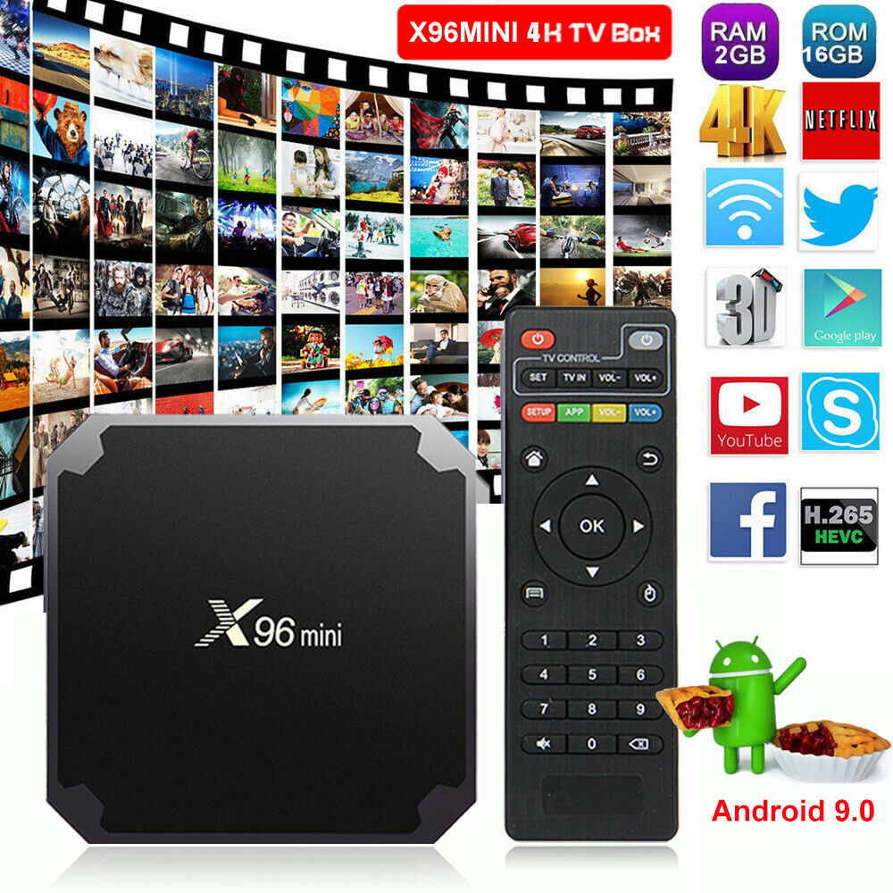 NEW X96MINI Android 9.0 Pie 2+16G Smart TV BOX Quad Core 4K Media HDR10 MINI PC android box core hdr10 media new pie quad smart x96mini