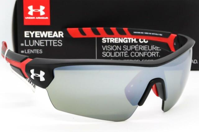 a1bd8228f736f NEW UNDER ARMOUR RIVAL SUNGLASSES UA Satin Black Grey Multiflection Mirror  lens