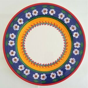 RARE-FIND-White-Flowers-By-VISTA-ALEGRE-Portugal-DINNER-PLATE