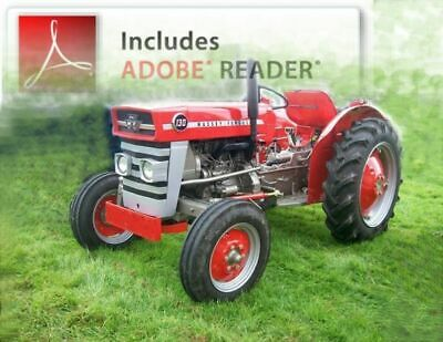 Massey Ferguson Mf25 Mf130 Tractor Manual Set On Cd A Unique Compilation Ebay