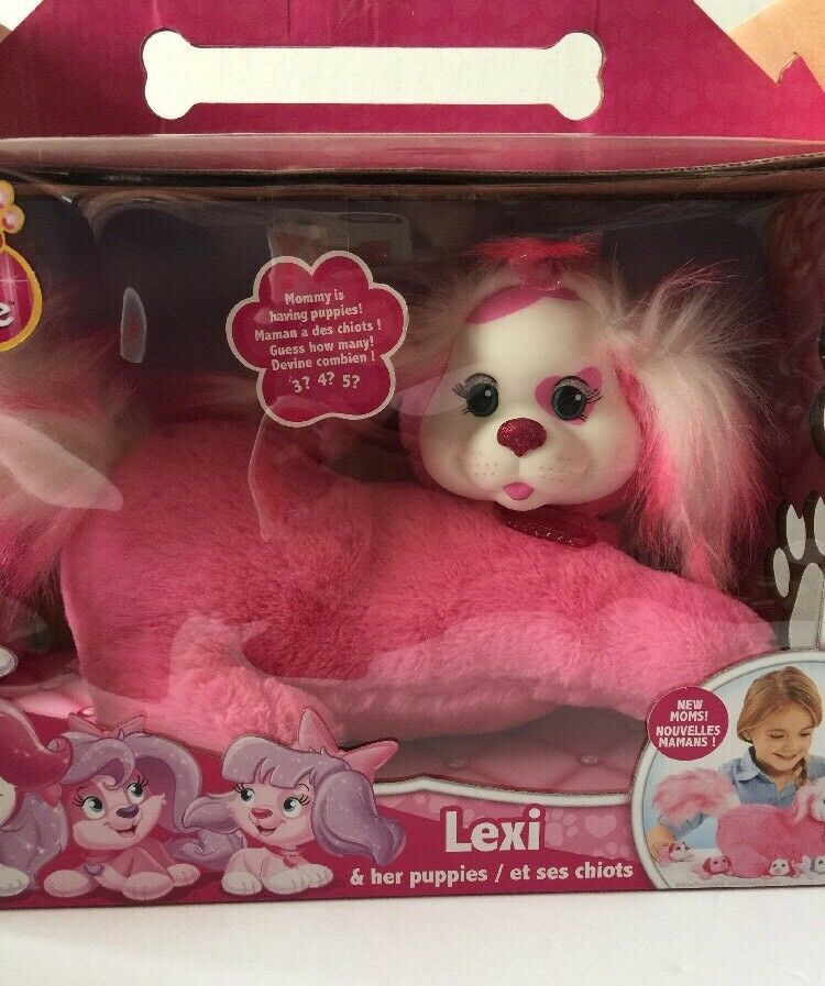 Puppy Surprise Lexi & her Puppies Plush Animal Guess How Many NIB White Pink