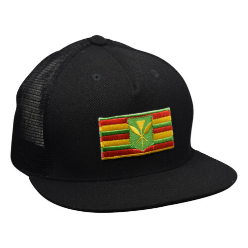 Black Snapback Kanaka Maoli Hawaii Trucker Hat by LET/'S BE IRIE