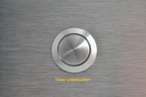 mit//ohne Beleuchtung-130x80 mm Edelstahl Doppel-Klingelplatte Rechteck-Klingelt