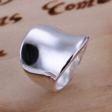925 Sterling Silver Plain Band Ring Size 8 B7