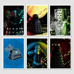 Doctor-Who-character-art-prints-A5-pack-of-6