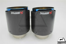 2 pcs Akrapovic Style Burnt Tip Carbon Exhaust Tip Universal Tail Pipe Muffler