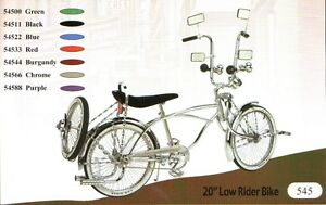 20 Lowrider Bike Beach Cruiser With Bent Fork 72 Spokes Pick Up