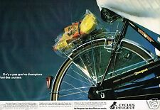 Publicité advertising 1980 (2 pages) Vélo Cycles Peugeot